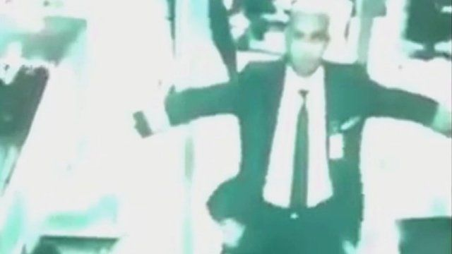 CCTV image of pilot in security check