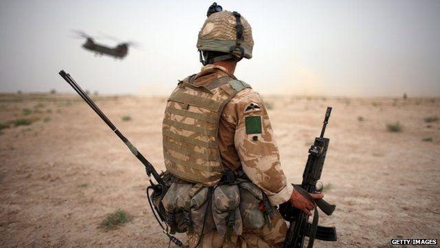 British paratroopers in Afghanistan