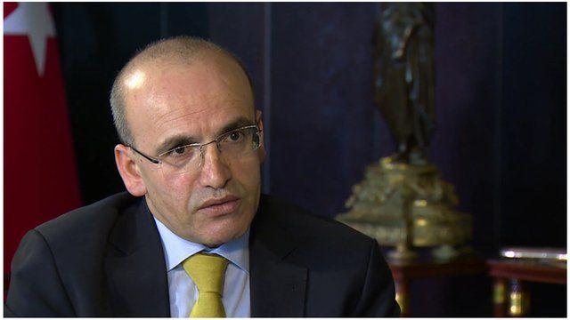 Turkey's Finance Minister Mehmet Simsek