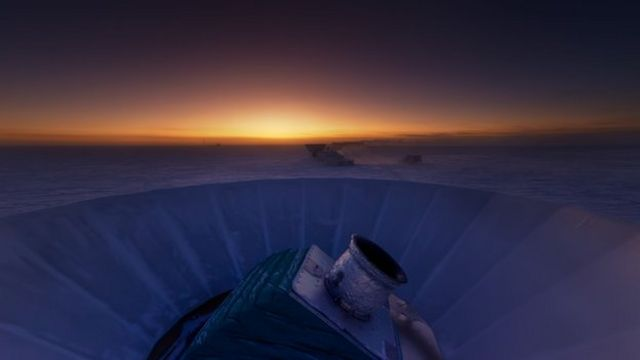 BICEP2 telescope in the South Pole