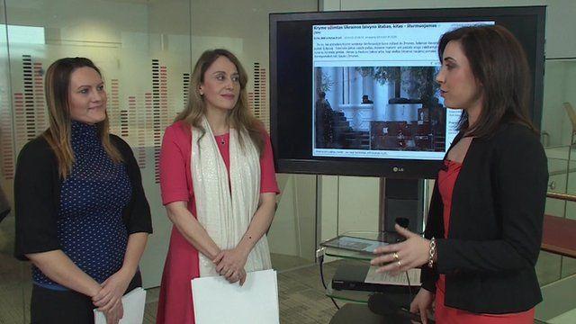 BBC's Daniela Ritorto, Simona Kralova and Lorna Hankin