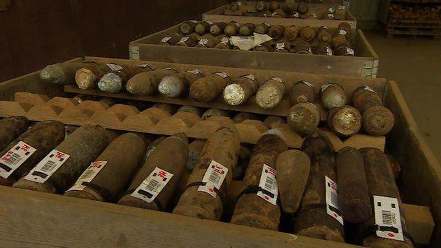 World War One bombs