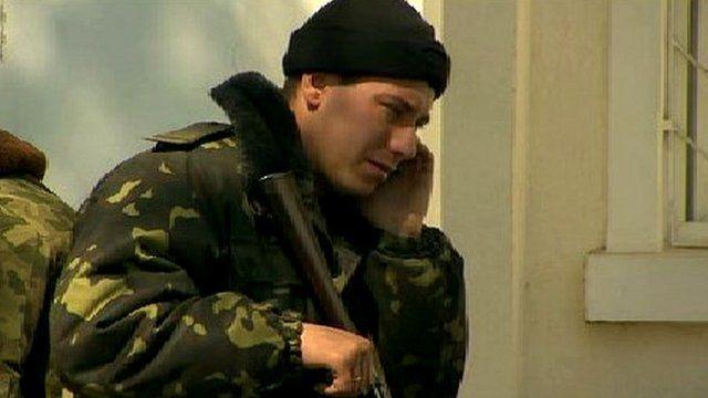 Ukrainian soldier