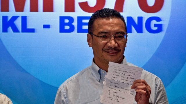 Malaysia's acting transport minister Hishammuddin Hussein