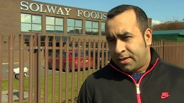 Solway Foods worker