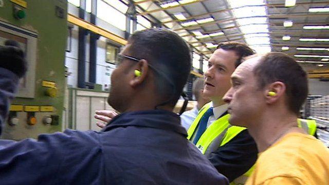 George Osborne in factory