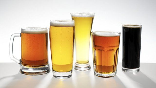 pints of different beer