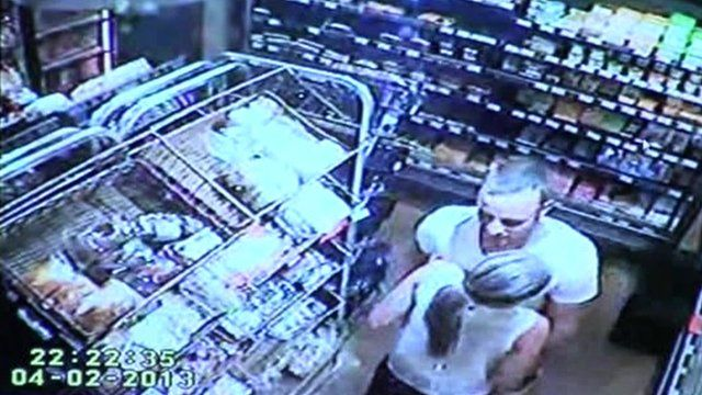 Oscar Pistorius and Reeva Steenkamp seen cuddling on CCTV