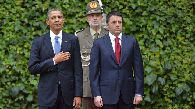 Barack Obama and Matteo Renzi