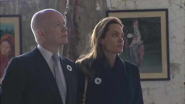 William Hague and Angelina Jolie