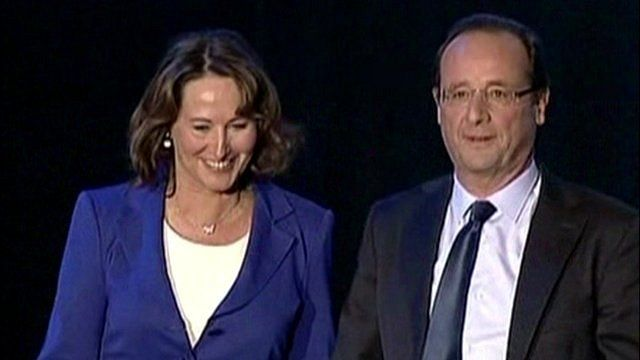 Francois Hollande and Segolene Royal on the presidential campaign trail in 2012