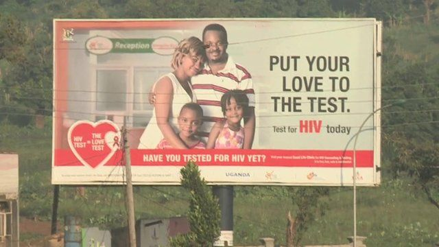 Sign for HIV tests