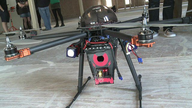 A drone fitted with a stun gun