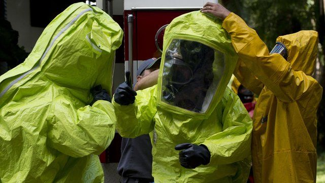 Chemical suits being tested