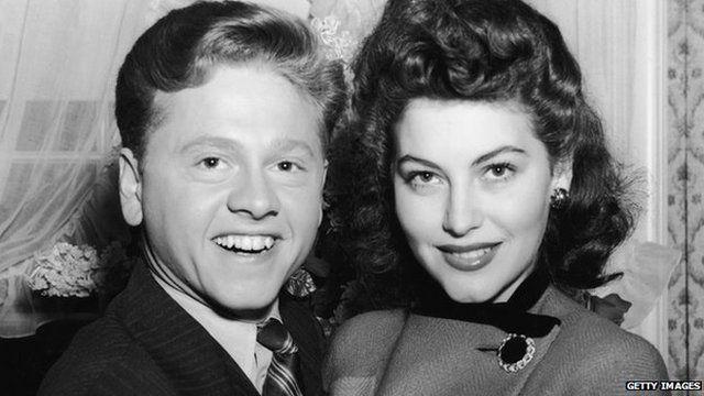 Mickey Rooney and Ava Gardner (8 January 1942)