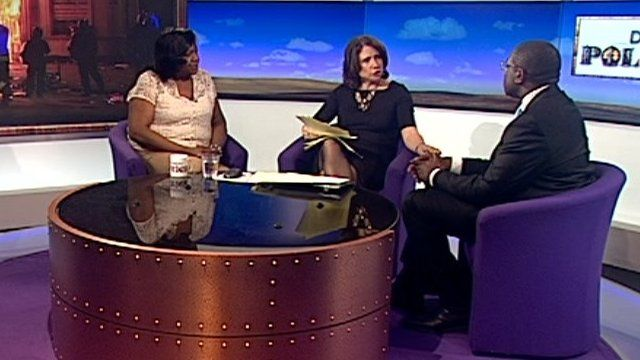 Pauline Pearce, Jo Coburn and David Lammy