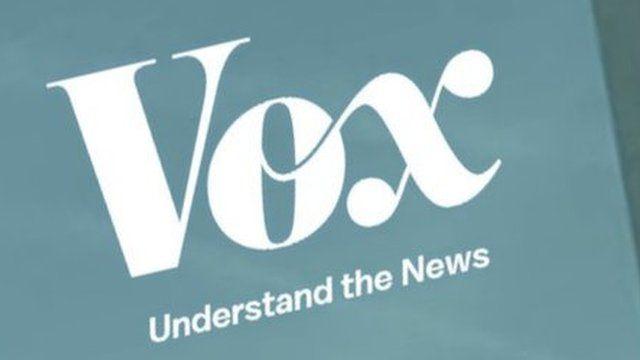 Screenshot from Vox News website