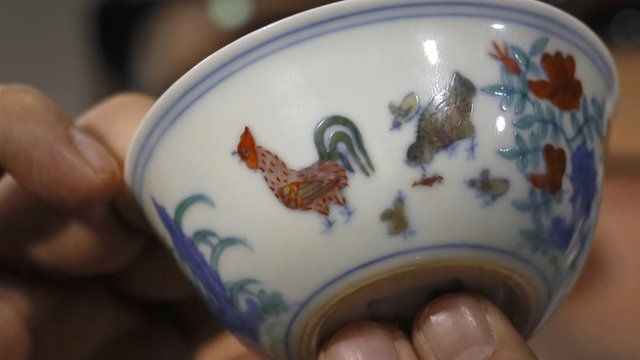 Nicolas Chow, a porcelain expert, explains why the cup is so valuable