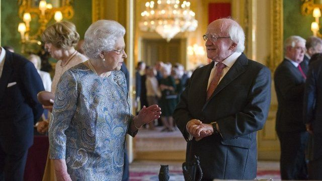The Queen and President Higgins