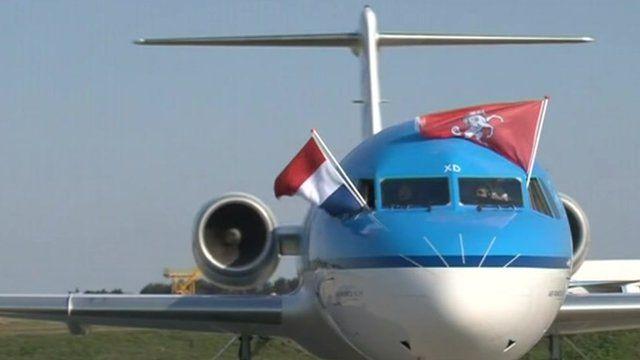 KLM flight at Manston