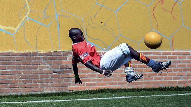 Kenyan player at Street Child World Cup