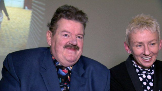 Robbie Coltrane and Muriel Gray