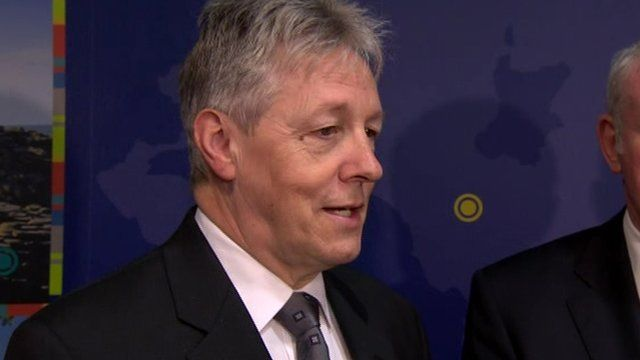 "First Minister Peter Robinson, who made the announcement on Thursday, described it as ""excellent news for Northern Ireland""."