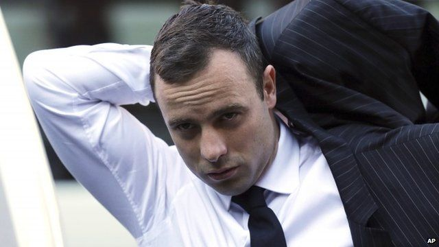 Oscar Pistorius arriving at court