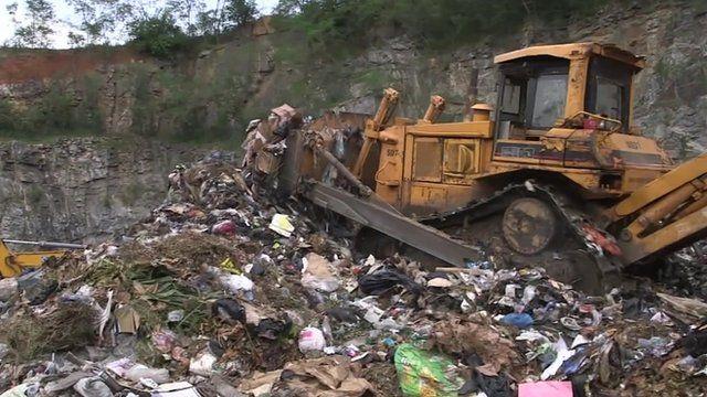 Landfill site in Ghana