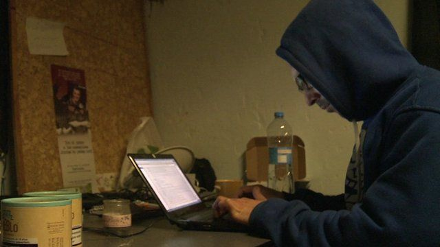 Man working in a cybersquat