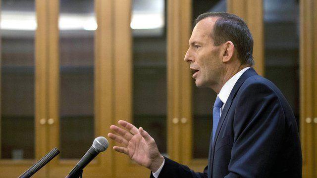 The Australian Prime Minister Tony Abbott