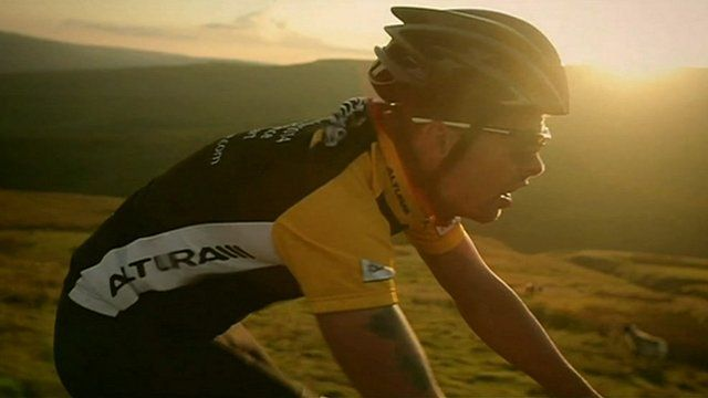 Peak district cyclist