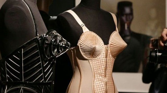 A pair of corsets from the Jean Paul Gaultier exhibition