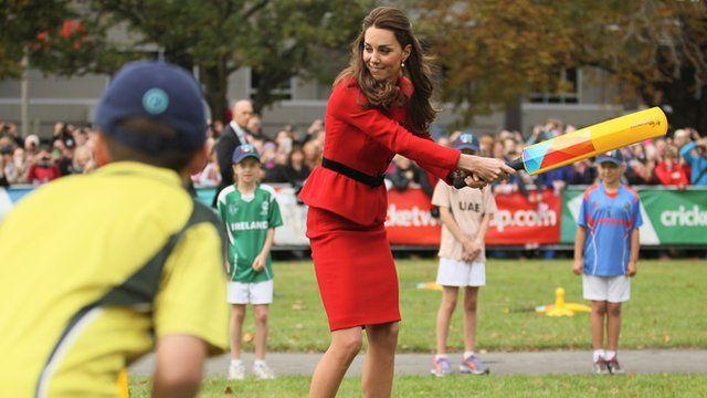 Duchess of Cambridge batting