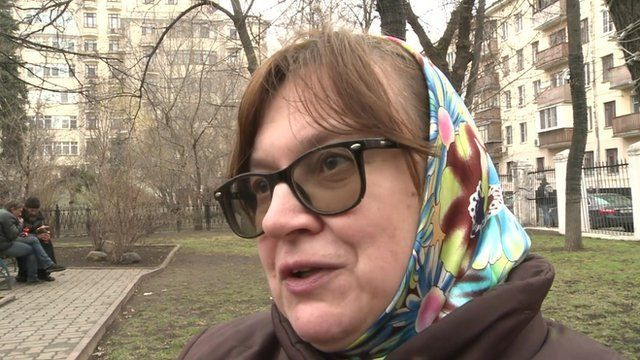 A Moscow resident saying that Putin will find a solution for the crisis in Ukraine