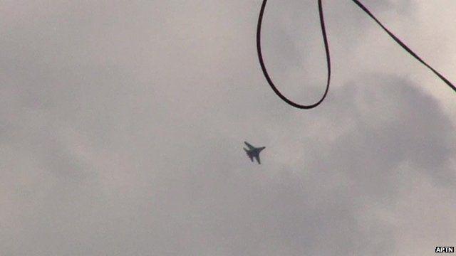 Jets seen over Kramatorsk town & airport