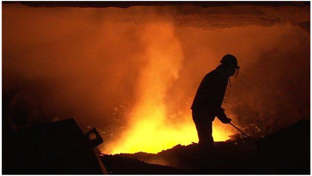 China steel worker
