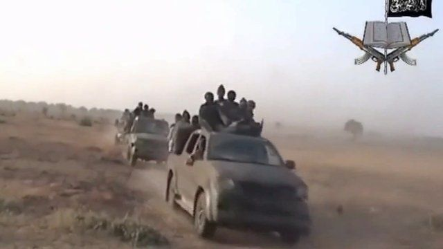 Boko Haram fighters in promotional video