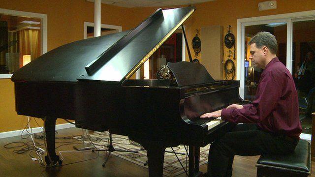 Joe Ierardi playing a piano