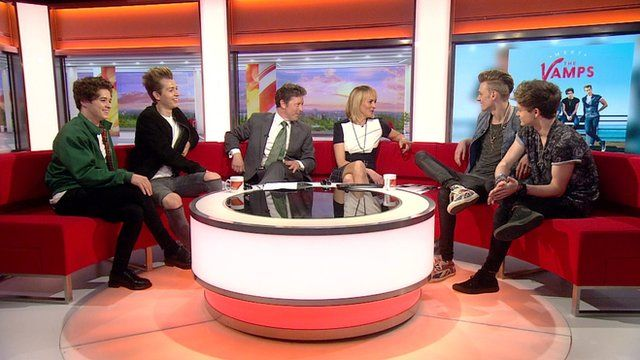 The Vamps on BBC Breakfast