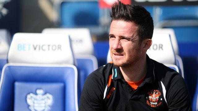 Blackpool player-boss Barry Ferguson