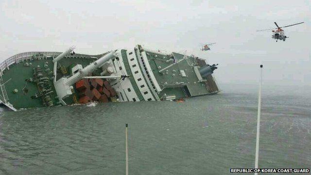 Capsized ferry