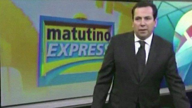 Quake hits news broadcast