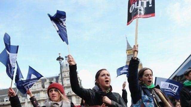 Teachers on strike in March