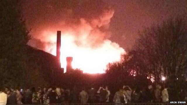 Fire in Leeds