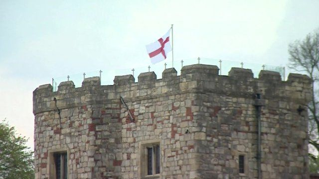 An English flag flies in York