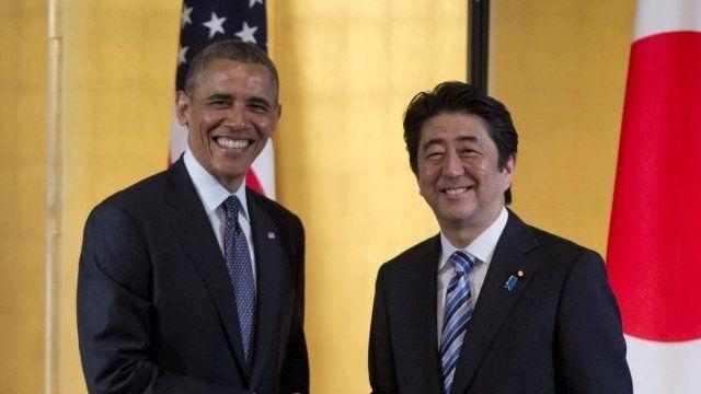 President Barack Obama with Prime Minister Shinzo Abe