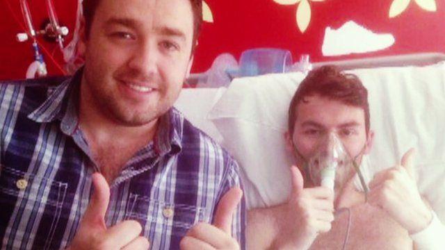 Jason Manford and Stephen Sutton