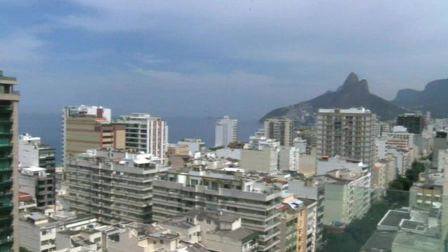 A view of the housing in Rio de Janerio