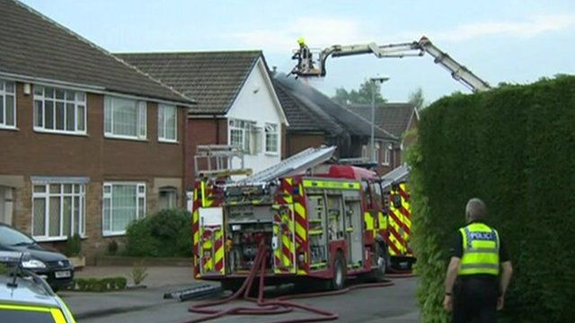 House fire, Farfield Court, Garforth
